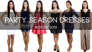 which party season dresses winter 2013 youtube