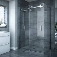 Sliding Shower Door 1200 Frameless Sliding Door Panel Enclosure At Plumbing Uk