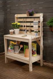 pallet potting bench with sink dilatatori biz potting shed