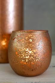 How To Make A Mercury Glass Vase Diy Copper Mercury Glass Votives 2 Bees In A Pod