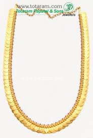 red stones gold necklace images 22k gold lakshmi kasu mala kasulaperu with red stones 235 jpg