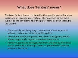 fantasy film genre conventions fantasy genre research