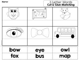 3 letter words kindergarten best template collection