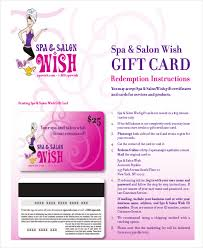 salon gift card salon gift certificate template 9 free pdf psd ai vector