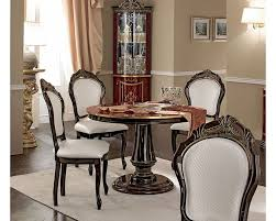 Dining Room Chair Styles Classic Style Dining Set W Round Table Made In Italy 33d494