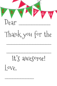 free fill in the blank thank you cards holidays pinterest