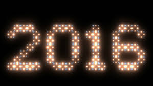 new year 2016text animated lights stock footage 12512447