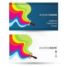Business Cards Painting Business Card For Painting Stock Vector Image 74122364