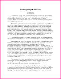 Example Of Autobiography Essay Autobiography Assignment