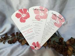 wedding ceremony fan programs petal fan programs