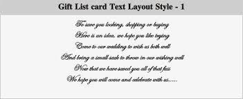 wedding wish list registry how to word gift list on wedding invitations yourweek a1f891eca25e