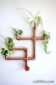 diy copper pvc wall planter decor pinterest planters walls