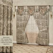 Antique Satin Valances by Wide Window Curtains French And Patio Door Panels Touch Of Class