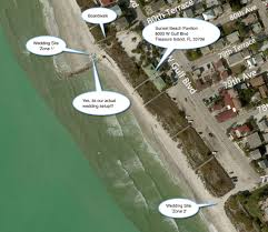 Clearwater Beach Florida Map by Sunset Beach Treasure Island Beach Florida Weddings