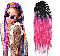ombre crochet braids 20 black to hot pink colors ombre crochet braid