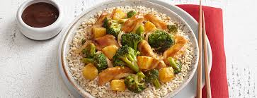 Main Dish Vegetables - chicken broccoli and pineapple stir fry entree main dish