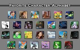 Alphabet Meme - favorite character alphabet meme by reshiramaster on deviantart