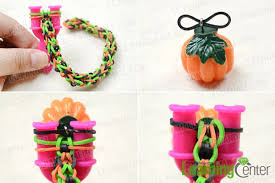diy bracelet rubber bands images How to make a cool rubber band bracelet with pumpkin charm jpg