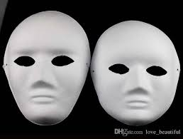 blank masks unpainted thicken women blank masks for decorating