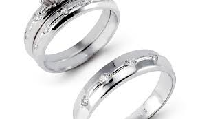 white gold wedding ring sets ring bright wedding engagement ring sets white gold winsome