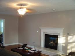 Our Freshly Painted Taupe Color Family Room - Family room colors for the walls