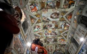 sistine chapel u0027s new led lights show masterpieces in a whole new