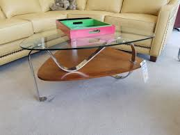 triangle chrome glass coffee table jasen u0027s fine furniture since