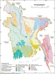 Map Of Bangladesh Physiographic Map 0f Bangladesh U2013 Face Of
