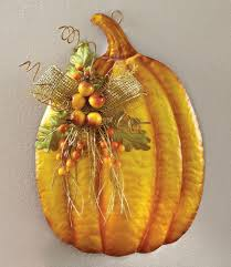 thanksgiving wall decorations amazon com floral pumpkin metal wall art fall decoration home