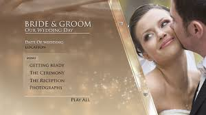 free encore menu templates digital team gold wedding dvd menu