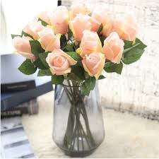 fake flowers for home decor rose artificial flowers 1pc flower wedding decoration diy