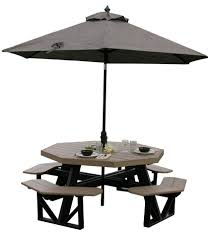 Free Octagon Picnic Table Plans With Umbrella Hole by Luxcraft Poly Octagon Picnic Table Swingsets Luxcraft Poly