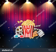 Curtains Show Theater Cinema Stage Curtains Movie Show Stock Vector 654301984