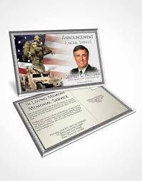 bifold order of service obituary template brochure in god we trust
