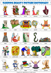 sleeping beauty esl printable worksheets exercises