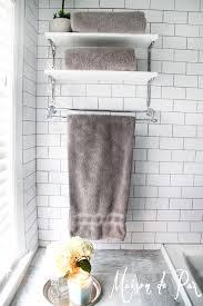 bathroom towel shelves modern interior design inspiration