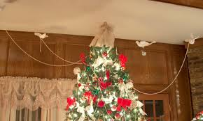 christmas tree decorating with birds and beads amazing christmas