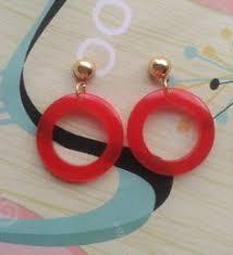 rockabilly earrings bakelite inspired earrings 40s 50s style drop earrings mid century