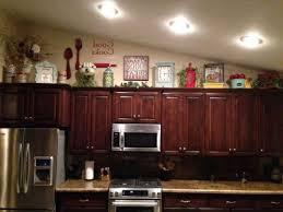 Decorating Kitchen Cabinets White Counter Wooden Set Cream