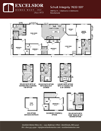 schult modular home floor plans schult integrity 7632 507 excelsior homes west inc