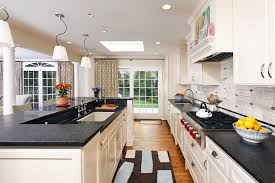 galley kitchen remodel kitchen contemporary with accent tiles