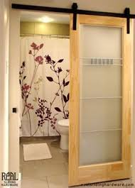 barn door from master to master bath a sliding mirrored barn style