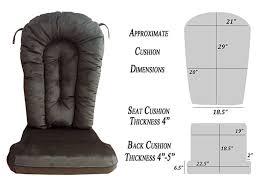 Rocking Chair Cushion Sets Amazon Com Glider Rocker Replacement Cushion Set Performance