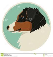 circle c australian shepherds dog collection australian shepherd geometric style icon round
