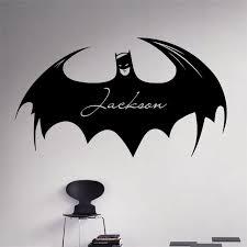 Personalized Names Aliexpress Com Buy Custom Personalized Names Wall Decal Batman