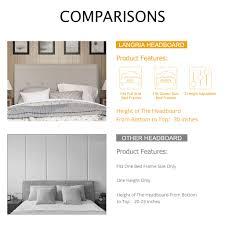 headboards for adjustable beds langria 3 height adjustable upholstered headboard bed bedroom