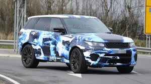range rover sport blue 2015 range sport rs drops its camouflage for a blue u0026 white body wrap