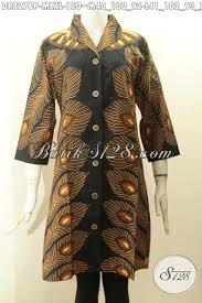 desain baju batik halus model baju batik dress elegan proses printin busana batik halus