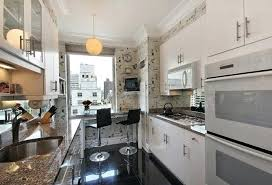 narrow kitchen design ideas narrow kitchen glassnyc co