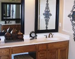 Metal Framed Bathroom Mirrors by Bathroom Vanity Mirror Ideas Brown Classic Wooden Frame Glass